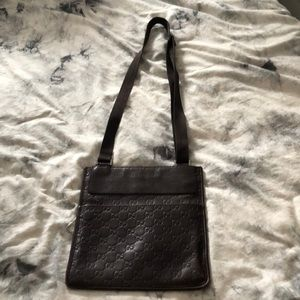Gucci cross body bag in chocolate brown